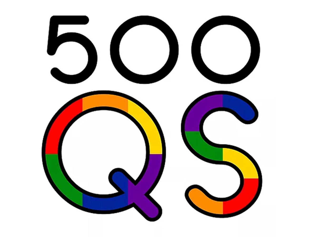 500 Queer Scientist logo.