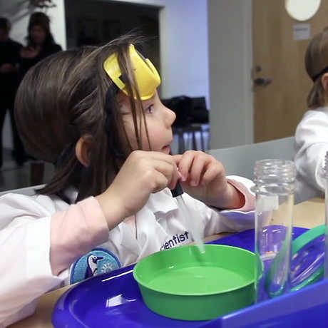 Photo of children learning science
