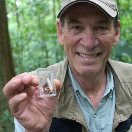Dr. Bob Drewes with mushroom