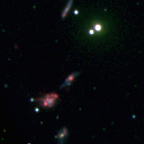 Four of the dwarf galaxies