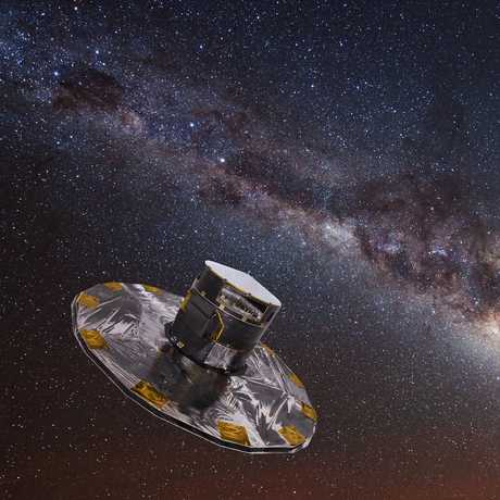Gaia mapping the Milky Way, ESA/ATG medialab; background: ESO/S. Brunier