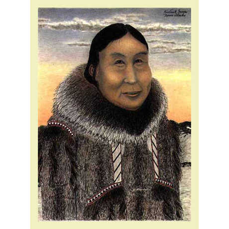 A print of an Inuit woman