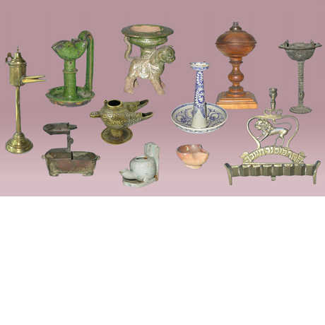 Eleven different types of lamps from the Allen Collection of Lamps