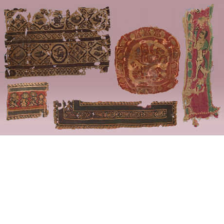 Five fragments of ancient textiles from the Rietz Collection of Textiles (Coptic Egypt and pre-Columbian Peru)