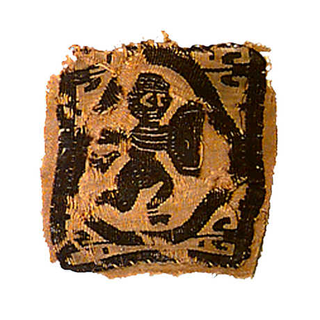 A fragment of coptic textile from Egypt.