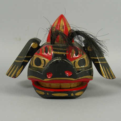 A mingei dog folk toy.
