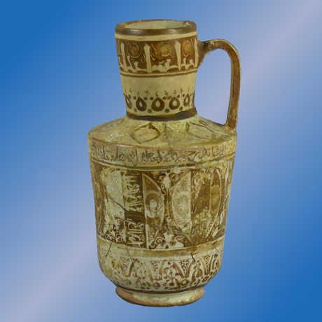 A Persian pottery vase.