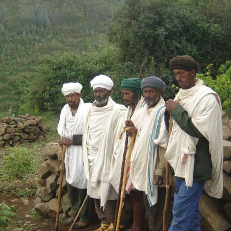 Photo of church forest stewards in Ethiopia