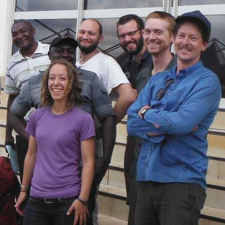 Staff and students from the Academy's herpetology department.