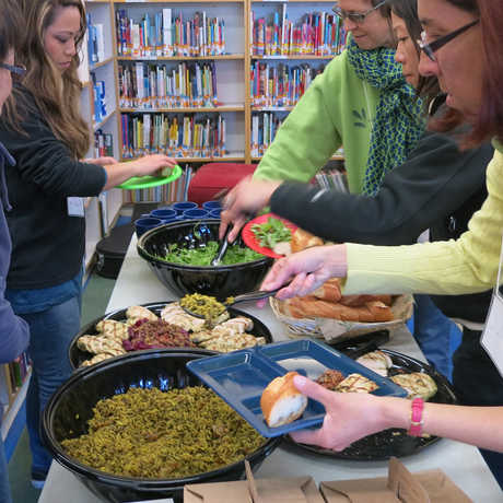teachers eat yummy food!