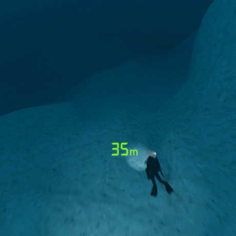 SCUBA diver in the Twilight Zone
