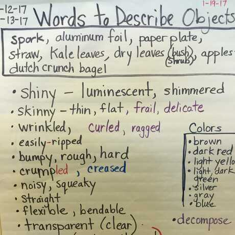 words to describe objects