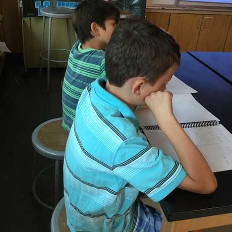 boys reflecting
