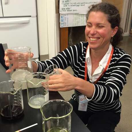 Erica with beakers