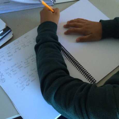 hands sketching