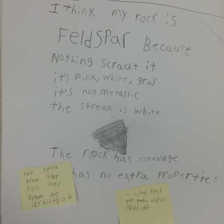 Peer feedback on post-its