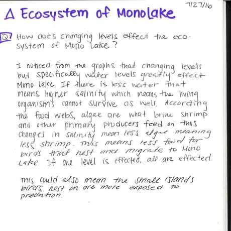Ecosystem of Mono Lake