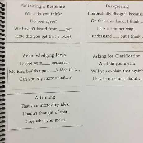 Using Sentence Frames   Science Notebook Corner
