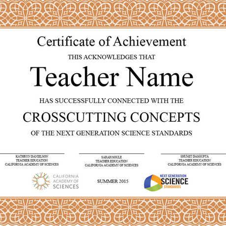 Crosscutting Concepts Certificate