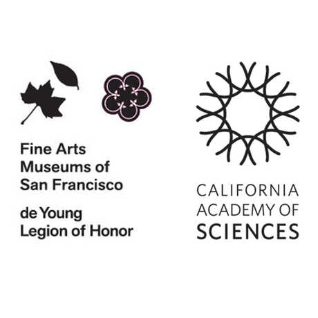de Youn Fine Arts Museums of San Francisco and California Academy of Sciences logos