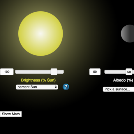 Earths Energy Balance Simulation Screen Shot