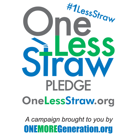 One Less Straw campaign