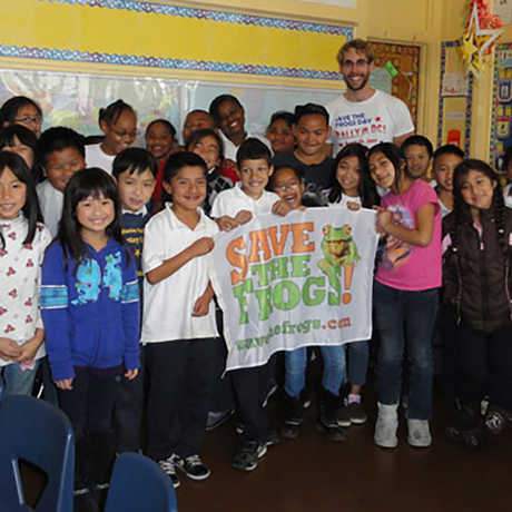 Save the Frogs classroom photo