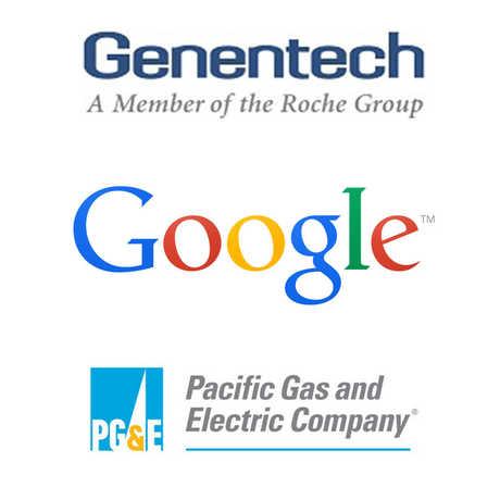 Genentech, Google, PG&E logos