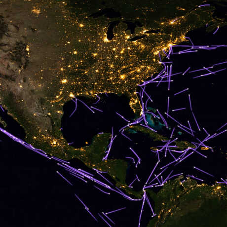 North American shipping lanes