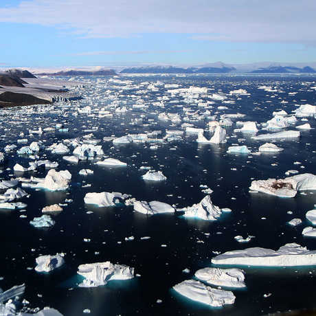 Melting glacier