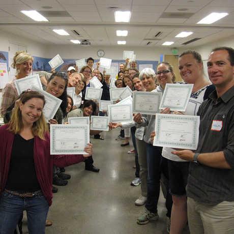 teachers with certficates