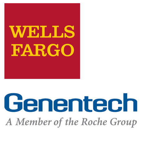 Wells Fargo and Genentech logos