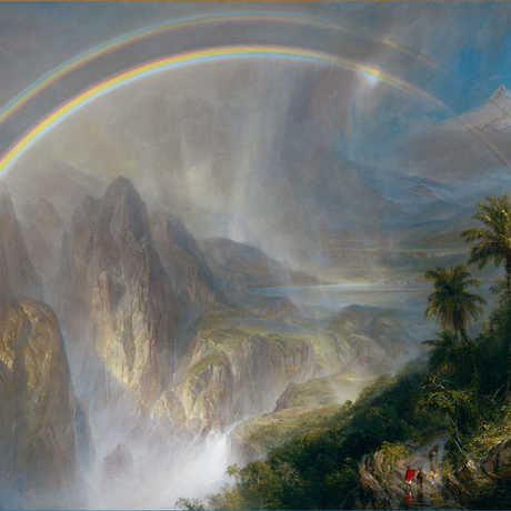 Frederic Edwin Church, Rainy Season in the Tropics, 1866. Oil on Canvas. FAMSF museum purchase, Mildred Anna Williams Collection