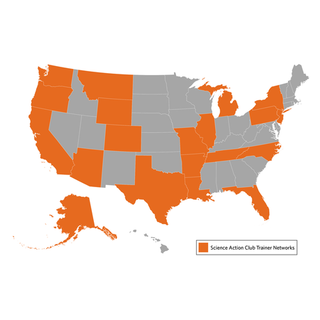 map of states with SA trainer networks