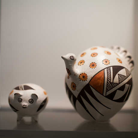 Animal-themed pots from the Elkus Collection