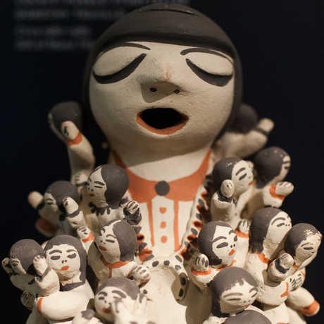 Native American traditional storyteller figurine