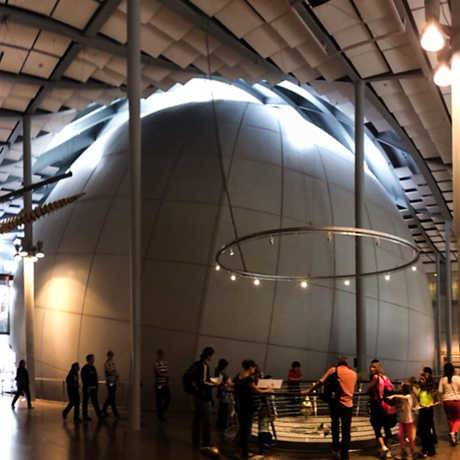 The exterior of the Morrison Planetarium dome.