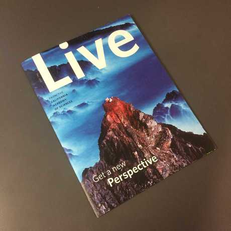 LIVE is a lush, content-rich, quarterly newsletter for Academy members.