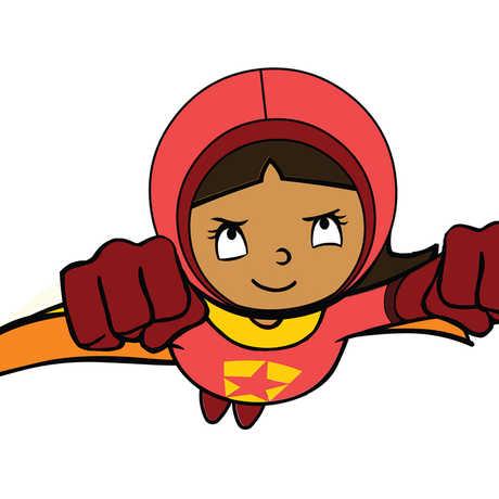 Illustration of PBS superhero WordGirl