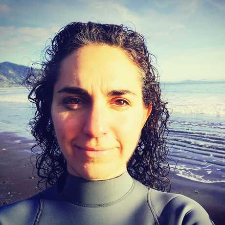 Portrait of Natasha Benjamin on the beach
