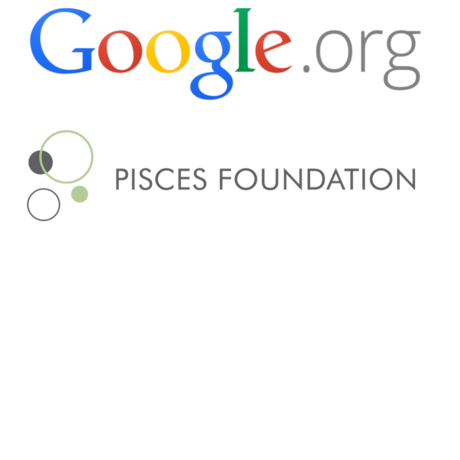 Google.org and Pisces Foundation logos