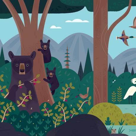 Curiosity Grove mural by Alexander Vidal