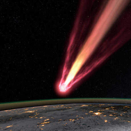 A simulation of the Chelyabinsk Meteor over Earth