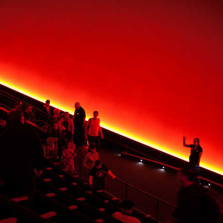 Inside the Morrison Planetarium