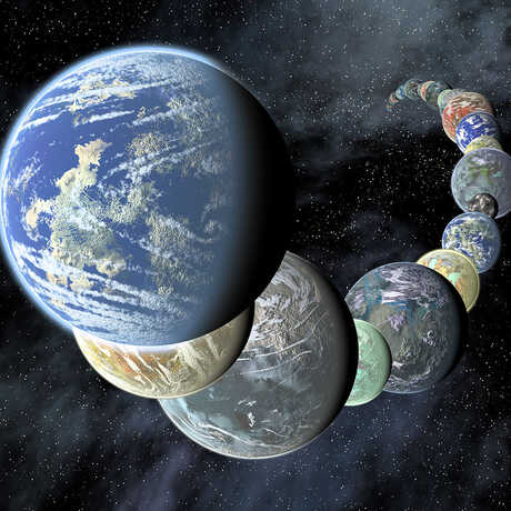 An artist's rendering of the planets of the Solar System