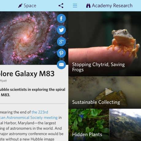 Screenshot of Science Today app