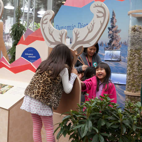 Children at an exhibit during 'Tis the Season for Science