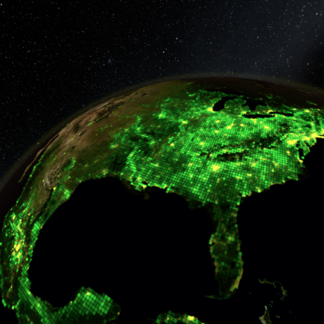 Earth graphic from Habitat Earth planetarium show