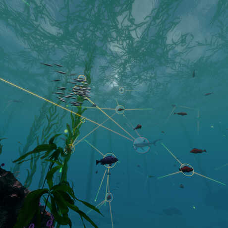 An undersea food web as visualized by the Habitat Earth team