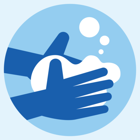 Illustration of handwashing